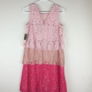Taylor Juniors 3 shades of Pink Sleeveless Dress